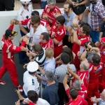 Alonso With His Fans